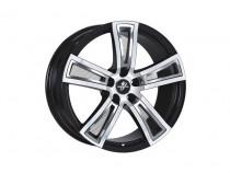 Fondmetal Tech 6 Black polished 7,5x17 5x112 ET 48 Dia 57,1 (черный)