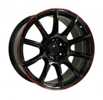 Off Road Wheels OW1012 8x18 6x139.7 ET 10 Dia 110,5 (GLOSSY_BLACK_RED_LINE_RIVA_RED)