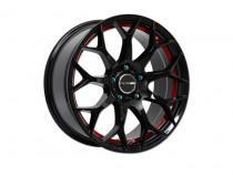PDW Scorpio Black With Red Under Cut 7,5x17 5x114,3 ET 38 Dia 67,1 (черный)
