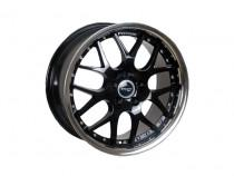 PDW Vertigo Gloss Black Stainless Lip 8x18 5x114,3 ET 45 Dia 73,1 (черный)