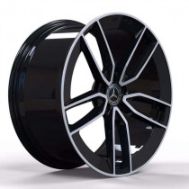 Replica FORGED MR399B 10x22 5x112 ET 56,1 Dia 66,6 (GLOSS-BLACK-WITH-MACHINED-FACE_FORGED)