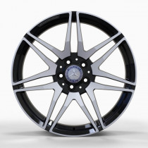 Replica FORGED MR874 8x19 5x112 ET 52 Dia 66,5 (GLOSS-BLACK-WITH-MACHINED-FACE_FORGED)