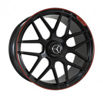 Replica MR957 10x22 5x130 ET 36 Dia 84,1 (SATIN-BLACK--WITH-RED-STRIP_FORGED)