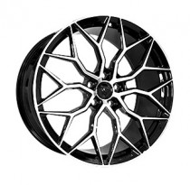 Vissol Forged F-1031 9,5x21 5x120 ET 49 Dia 72,6 (GLOSS-BLACK-WITH-MACHINED-FACE)