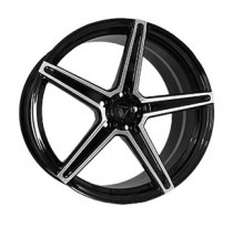 Vissol Forged F-505 9x20 5x112 ET 33 Dia 66,5 (GLOSS-BLACK-WITH-MACHINED-FACE)