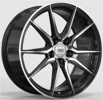 WS FORGED WS2104 8x18 5x112 ET 45 Dia 57,1 (GLOSS_BLACK_WITH_MACHINED_FACE_FORGED)